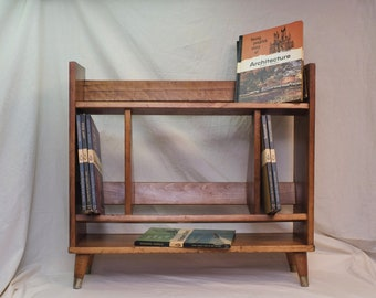 Mid Century Modern solid wood bookcase