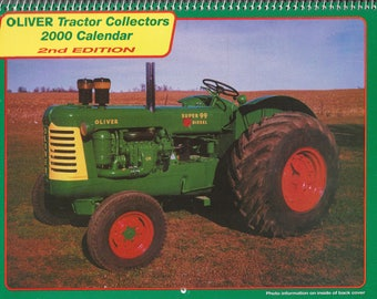 New 2000 Oliver Cornbelt Collector's  Calendar Featuring: Cover Tractor 1957 Oliver Super 99 GM Diesel  Tractor