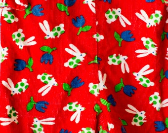 Vintage Red HealthTex Rabbit Overalls Size 9 Months
