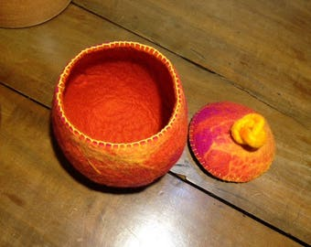 Felted Bowl with Lid