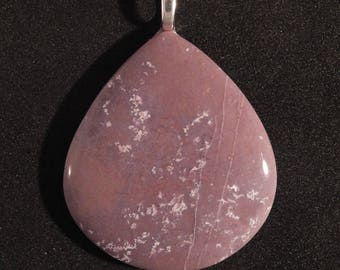 A  Great Lavender Burro Creek Jasper Pendant on an 18 Inch Sterling Silveer Chain