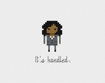 """Scandal: Olivia Pope """"It's handled."""" Cross Stitch Pattern PDF Instant Download"""