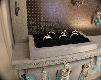 Velvet Ring Holder Upgrade, Add On For Your Jewelry Organizer