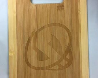 Team Skull Bamboo Cutting Board-Medium