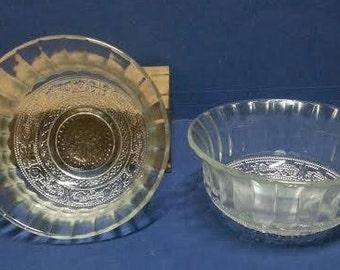 Vintage Indonesian Depressed Glass Bowls