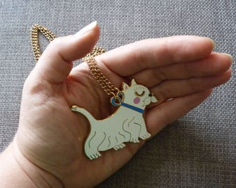 Enamel Westie Dog Necklace