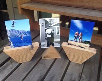 Set of 3 Geometric Photo Holders, Sign Holders, Name Holders