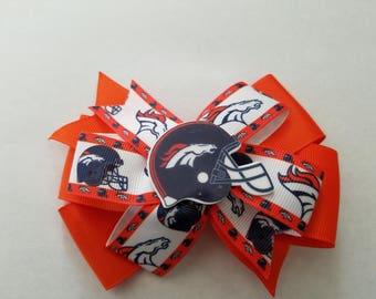 Denver Broncos hair bow