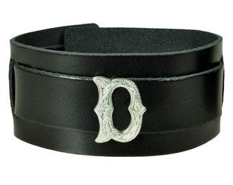 """Leather bracelet """"letter"""""""