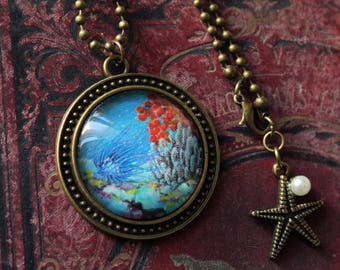 "Anemone necklace bronze collection ""Coral"""