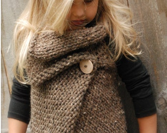 KNITTING PATTERN - Westlynn Wrap (Toddler, Child, Adult sizes)
