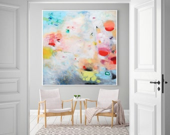 Clouds, Large Wall Art Print, Abstract Wall Art, White Landscape Giclee  Print,