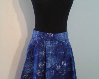 Handmade World Traveler Map Circle Skirt