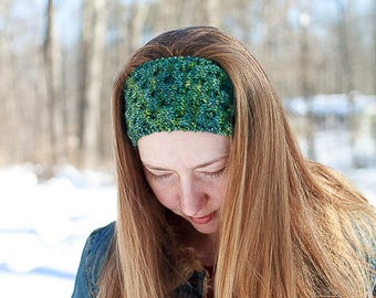 Honeycomb Headband / Knitting Pattern / Ear Warmer Knitting Pattern