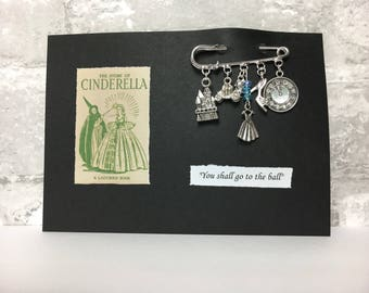 Cinderella kilt pin brooch ~ Valentine gift ~ Once upon a time ~ Glass slipper ~ Silver plate pin ~ Fairy godmother x