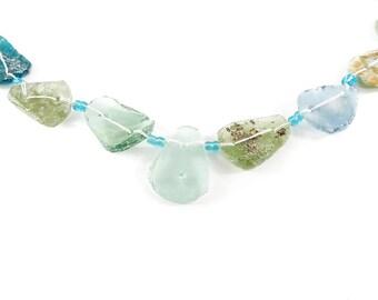 Ancient Roman Glass Bowl Fragments Beads 119982