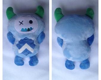 Mr Monster Blue Cuddly minky plushie, stuffie, plush, plush animal, stuffed animal