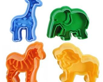 Zoo - Safari Animals cutters -Plungers