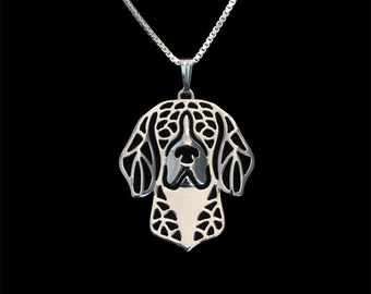 Beagle jewelry - sterling silver pendant and necklace