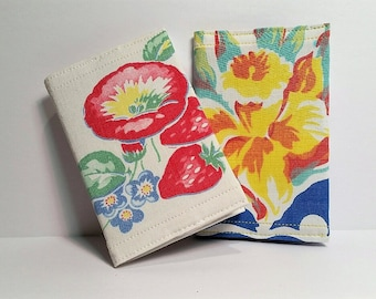 Vintage Tablecloth Mini Composition Notebook Covers Set of 2