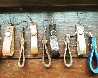 Rivet loop earrings