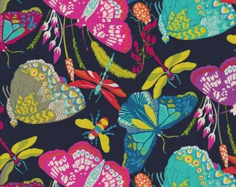 Butterfly Dance by Sally Kelly, Windham Fabrics, Butterflies on Navy
