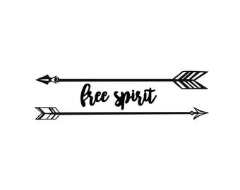 Free Spirit with Arrows Decal