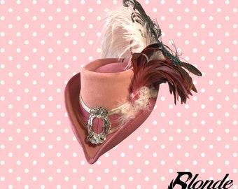 Pink & Rose Riding Hat - Champagne Trim
