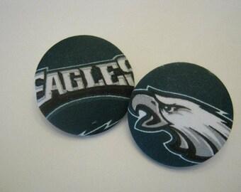 XXL Earrings Philly Eagles NFL Football Button Earrings