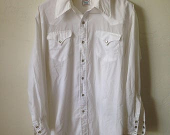 Vintage H Bar C Long Tail Pearl Snap Western Rockabilly Cowboy Shirt - Size 2XL