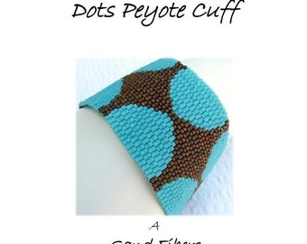 Peyote Pattern - Intimations of Disco Dots Peyote Cuff / Peyote Bracelet - A Sand Fibers For Personal Use Only PDF Pattern - 3 for 2