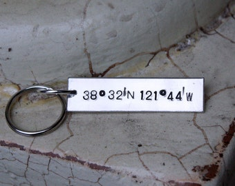 Key chain, Latitude and Longitude