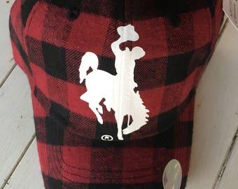 Buffalo plaid flannel hat