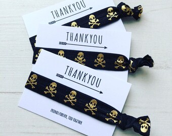Pirate / skull and crossbones thank you party favours / party bag fillers boys