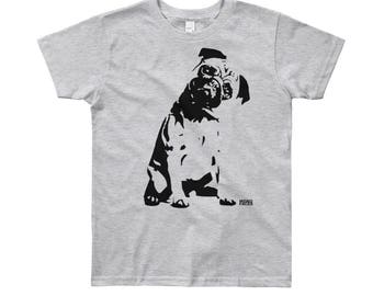 Pug Kids T-shirt, Pug Toddler Tshirt, Gift For Nephew, Gift For Niece, Children Top, Kidswear, Pug Owner Gift, Birthday Gift, 2 to 12 years,