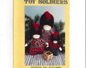 Toy Soldiers Pattern 104 by Apron Strings Collection, UNCUT, From 1990s, 3 Sizes, English Bobby Style, Vintage Pattern, Home Sewing Decor