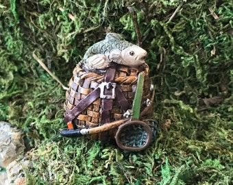 Miniature Fishing Creel / Basket