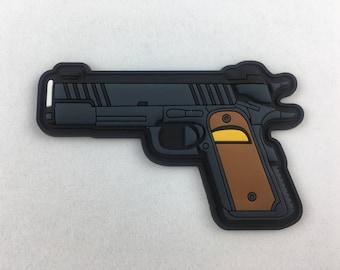 1911 Pistol Brown PVC Morale Patch