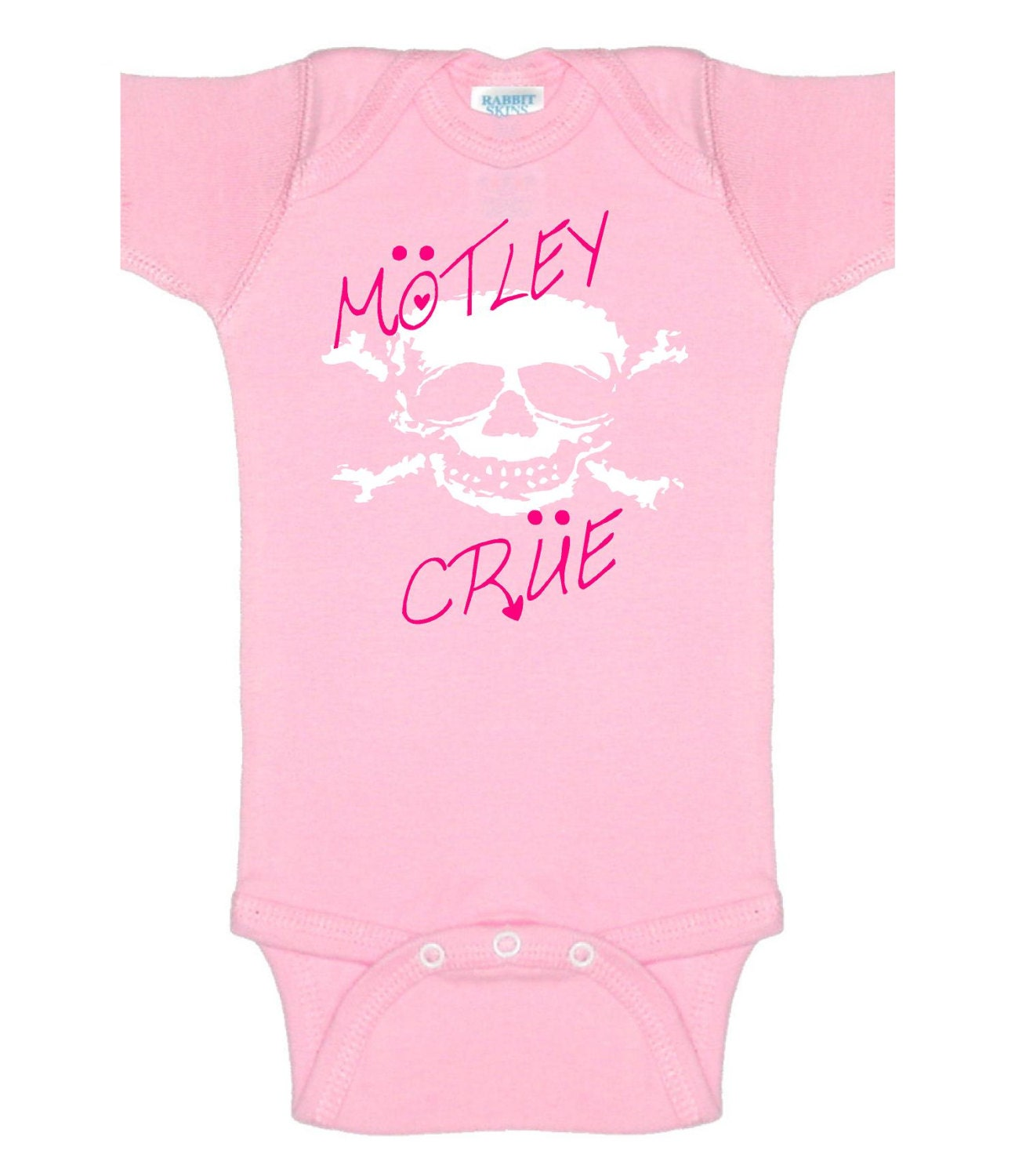 pwp motley crue skull baby onesie romper infant t shirt outfit