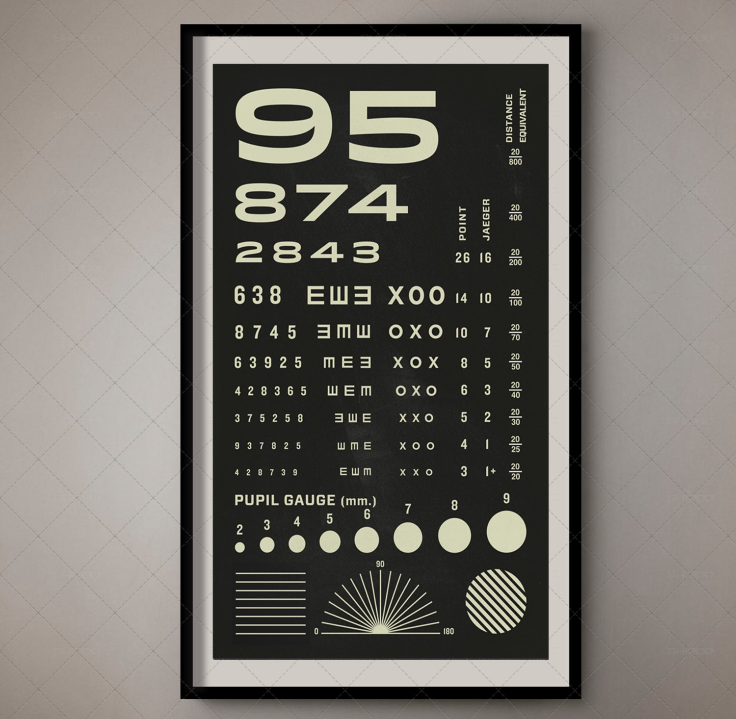 Rosenbaum eye chart pocket vision test for optometrists zoom geenschuldenfo Image collections