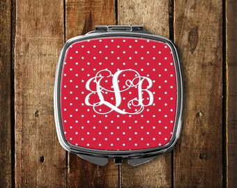 Personalized Mirror, Monogram gift, Gifts for her, Compact Mirror, Monogram purse gift, Custom Compact, Purse Mirror, Pocket Mirror