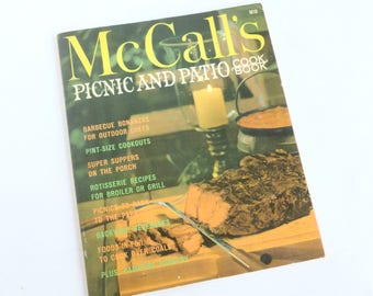 McCall's Picnic and Patio Cookbook 1965 Edition Recipes Paperback