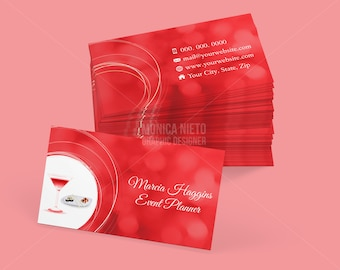 Tailoring services business card tailor business cards custom printable event planner business card template colourmoves