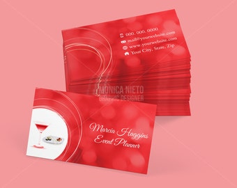 Custom printable interior design business card template custom printable event planner business card template colourmoves
