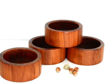 Dansk Teak Salad Bowls- 4 Small Bowls