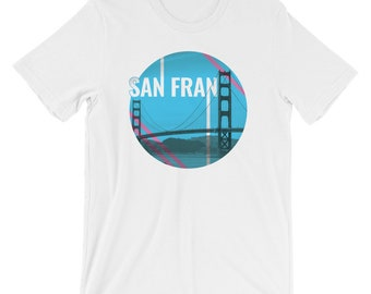 San Francisco Women's T-Shirt | Retro West Coast Shirt | Vintage California Hipster | Travel Ladies Tee