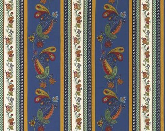 Lorraine - Blue Border Stripe, Quilting Fabric by American Jane from Moda