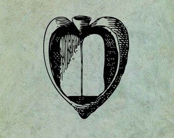 Open Heart Book - Antique Style Clear Stamp