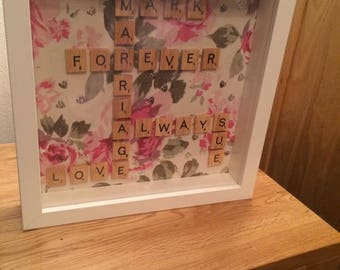 Personalised Anniversary Scrabble Frame