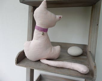 Décoration d'intérieur chat rose en coton